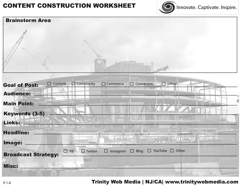 , Content Worksheet