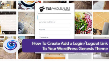 How to Add a Login/Logout Link To Your WordPress Genesis Theme