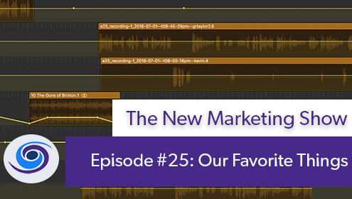new marketing show, Episode #25 The New Marketing Show: Some of Our Favorite Things