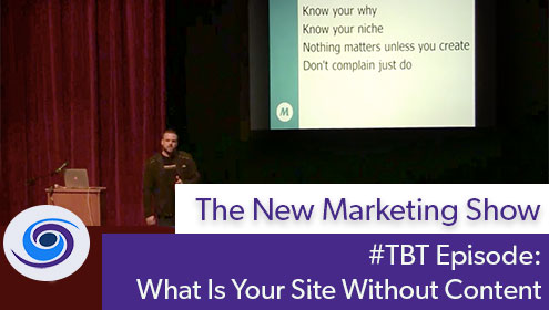 #TBT Bonus Content: What Is Your Site Without Content • WordCamp Phoenix