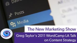 Episode #83 The New Marketing Show: Greg Taylor's 2011 WordCamp LA Talk on Content Strategy