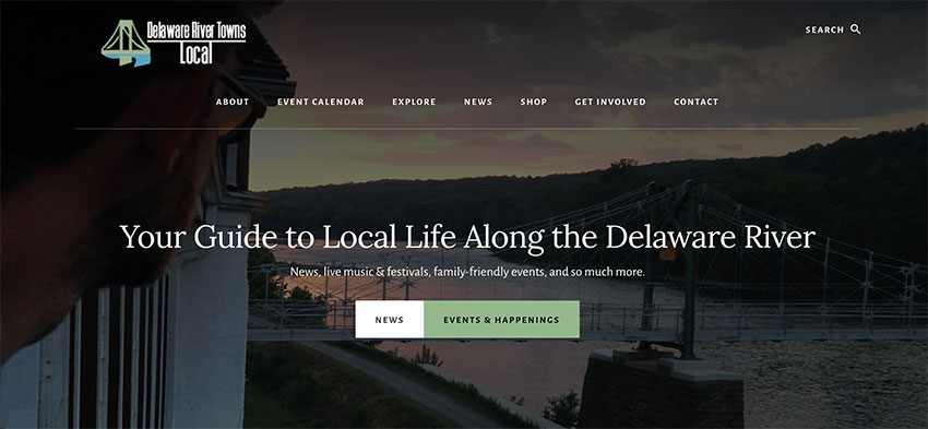Website Refresh, Website Refresh: Delaware River Towns Local